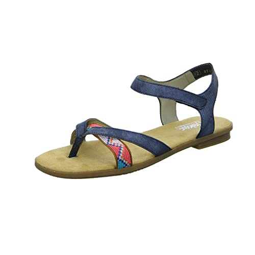Rieker Damen 64263 Offene Sandalen mit Keilabsatz