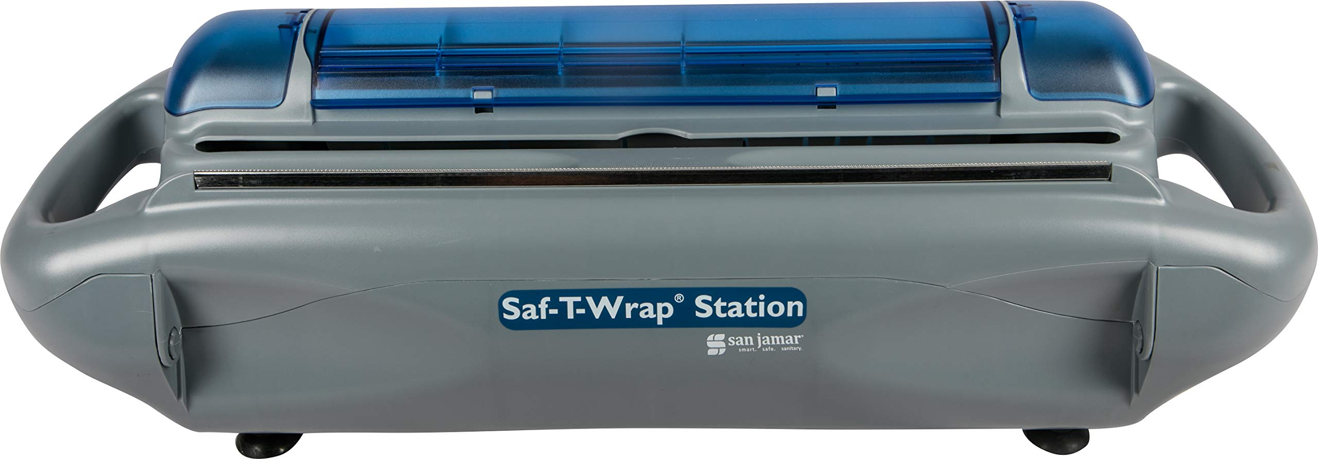 San Jamar SW1218 Saf-T-Wrap Station, Gray, for 12-18''w x 5 1/10''dia Rolls