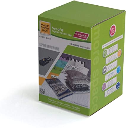 Magic Ahorro Bolsa - Pack de 8 XXL 80 x 100 cm Bolsas para Almacenamiento al vacío - Reina: Amazon.es: Hogar