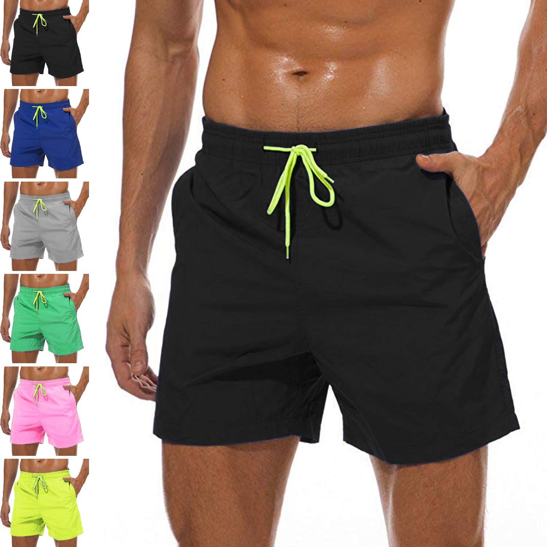 12d0028d39 YnimioAOX Men's Swim Trunks Quick Dry Beach Board Shorts Swimwear Bathing  Suit with Mesh Lining | Amazon.com