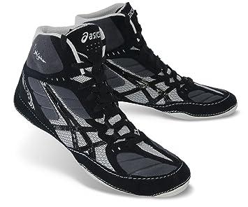 Asics Cael Boxing V5.0 Zapatillas de boxeo, caña alta, ajuste tipo guante, Cael V5.0, negro/gris: Amazon.es: Deportes y aire libre