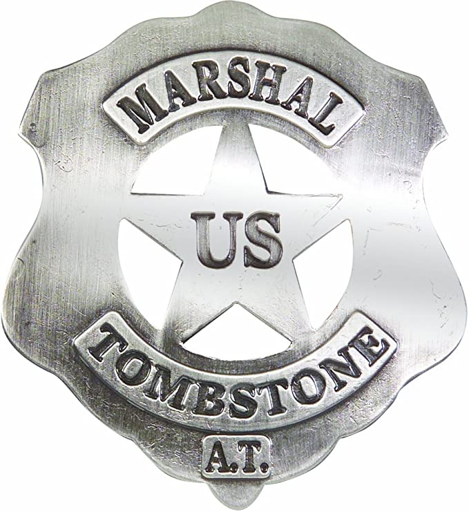 UNITED STATES MARSHAL I.T OLD WEST  BADGE OBSELETE 24 Made in USA