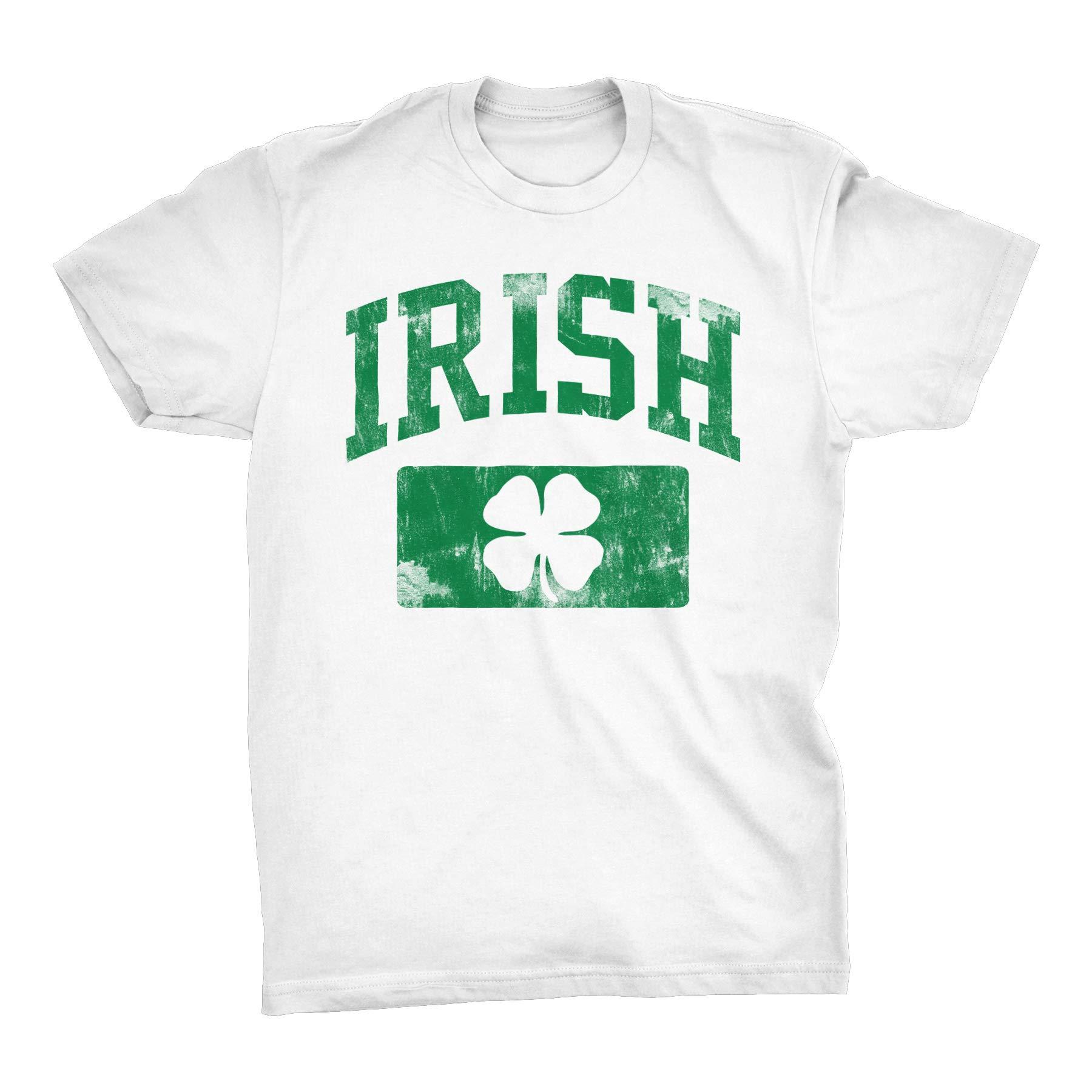 c89b8eb37 St Patricks Day Irish Shirt - Irish Athletic Distressed - White-Md