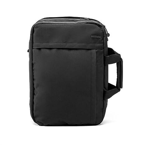 ECO Mochila convertible, bolsa de viaje con bandolera y maletín NOMAD de cabina para viajes cortos. (Negro)