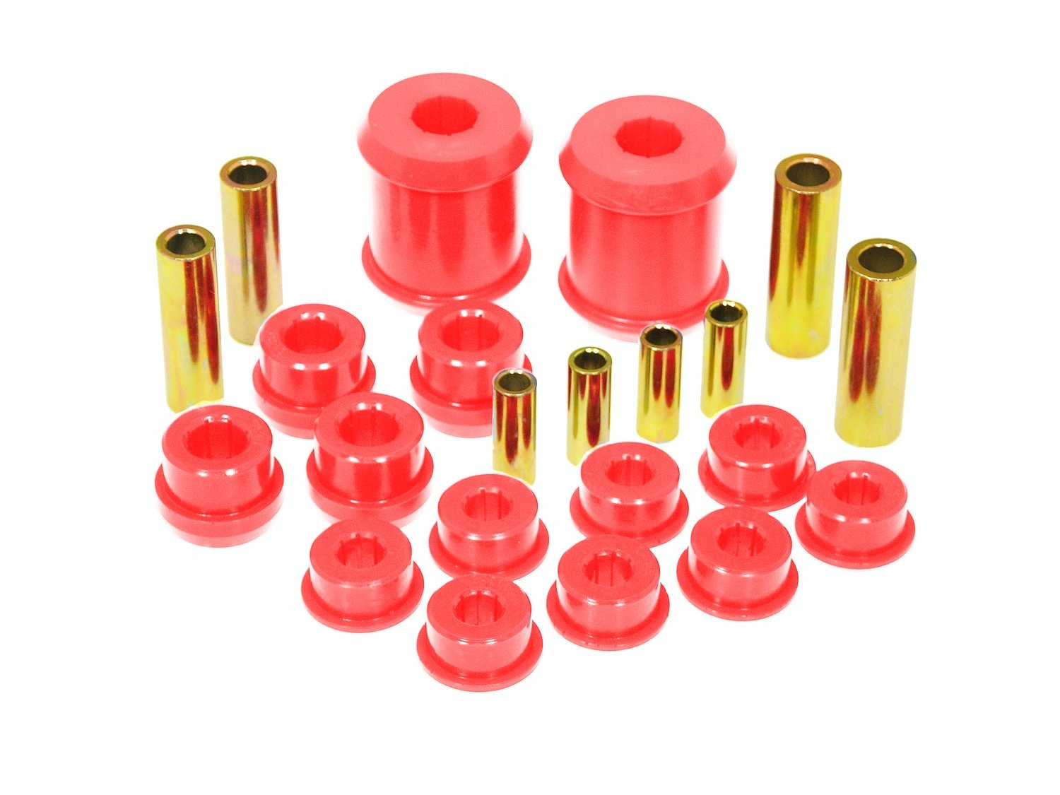 Prothane 13-302 Red Rear Upper and Lower Control Arm Bushing Kit