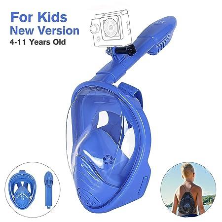 Unigear Tauchmaske, Faltbare Schnorchelmaske Tauchermaske Vollgesichtsmaske, mit 180 Grad Blickfeld und Kamerahaltung, Anti-F