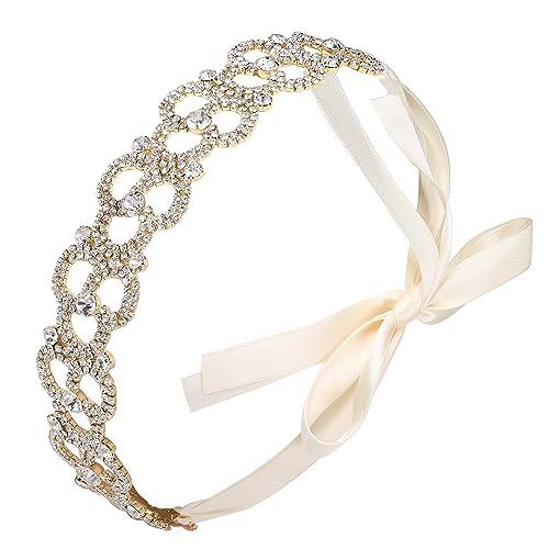BABEYOND Corona de la cinta de las mujeres Headpieces nupciales de la venda de la boda para Wedding ...
