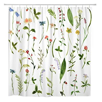 Deep forest with ferns in a sunny day Shower Curtain Bedroom Fabric /& 12Hooks
