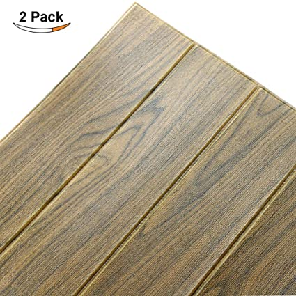 Doremy 3D Wall Panels Stickers Wood Grain Wallpaper DIY Waterproof For  Background Wall Decoration (2PCS