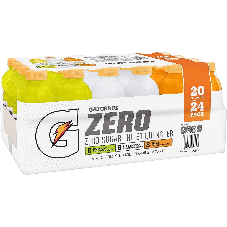 Gatorade Zero Thirst Quencher Variety Pack (20 oz, 24 pk.) (pack of 2) ES