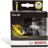 Bosch Set de 2 ampoules voiture H4 Plus +90