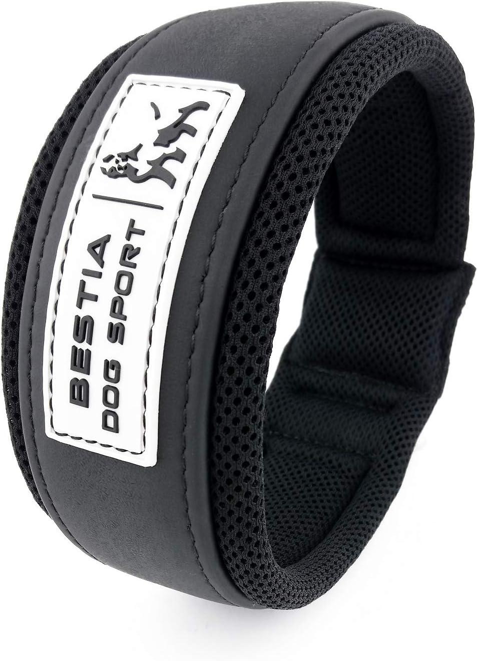 Bestia Dog Sport Collar. Ultra Heavy Duty. Stainless Steel. Waterproof. Padded