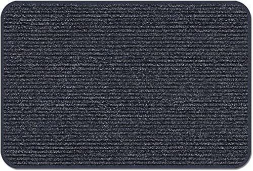 House, Home and More Skid-Resistant Heavy-Duty Door Mat – Stormy Blue – 3 Feet X 6 Feet
