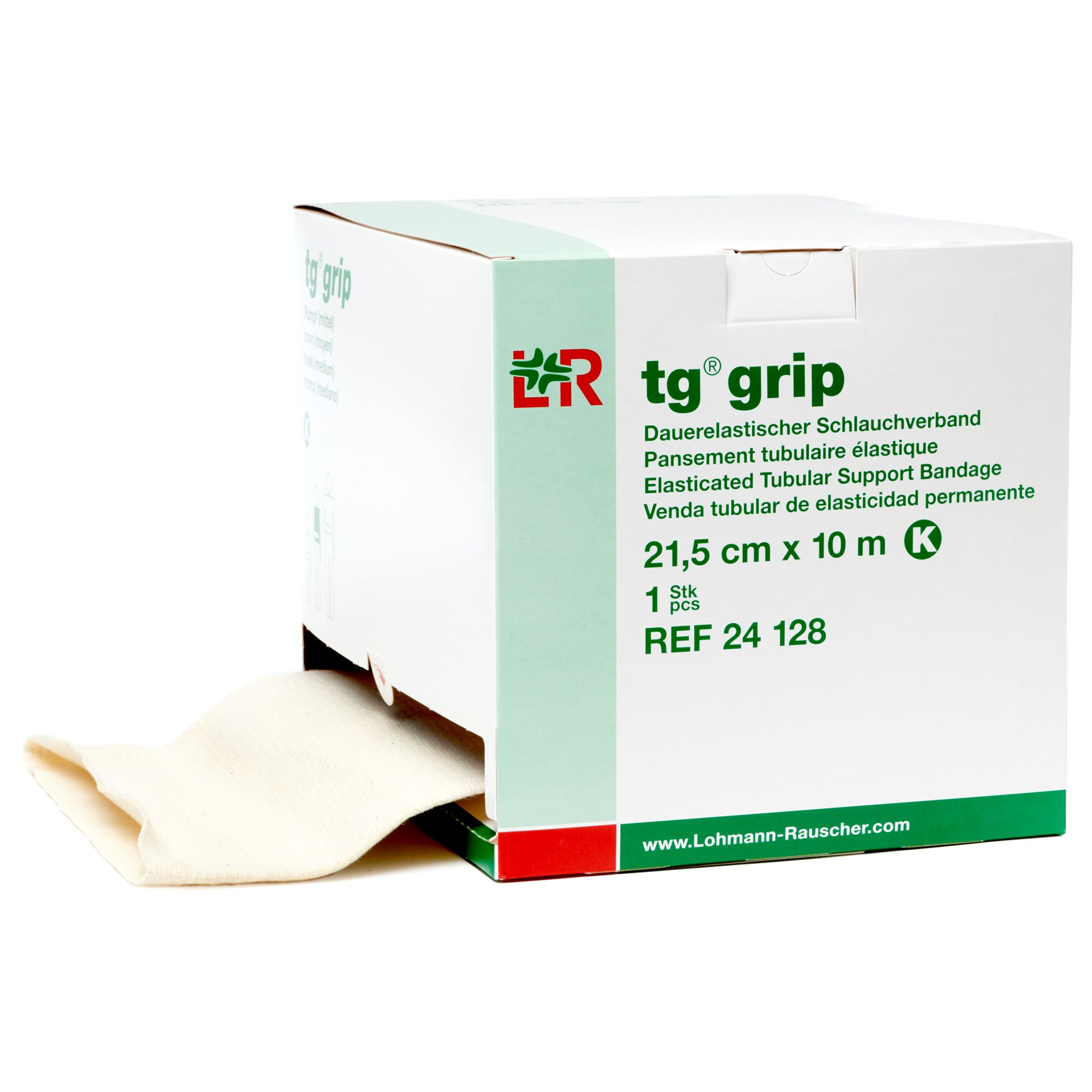tg Grip Elastic Tubular Compression Bandage, Seamless Tube Stockinette Wrap for Retention, Lymphedema, Swelling, 85% Cotton, Washable & Reusable, Size K