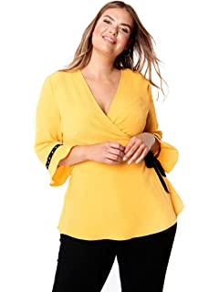 359db833b99fe Lovedrobe Koko Women s Plus Size Raspberry Longline Shirt  Amazon.co ...