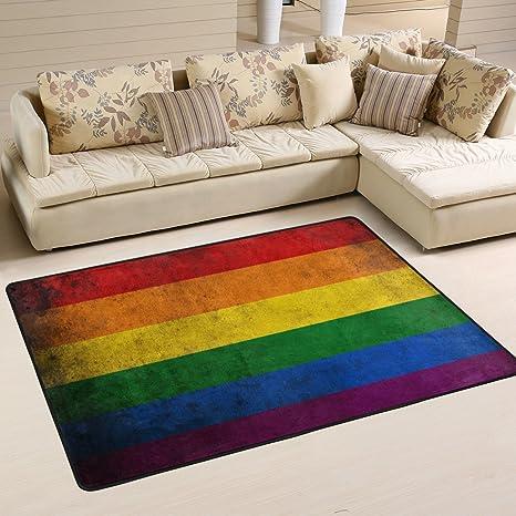 Hand In Hand Gay Home Bedroom Carpet Round Floor Mat Non-Slip Bathroom Rug Mat
