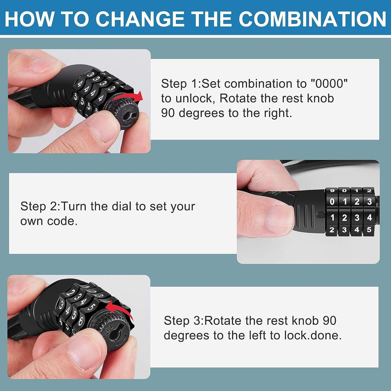 Upgraded 4 Digit Combination Fridge Lock for French-door Refrigerators Rofio Refrigerator Lock Easy to Set and Use