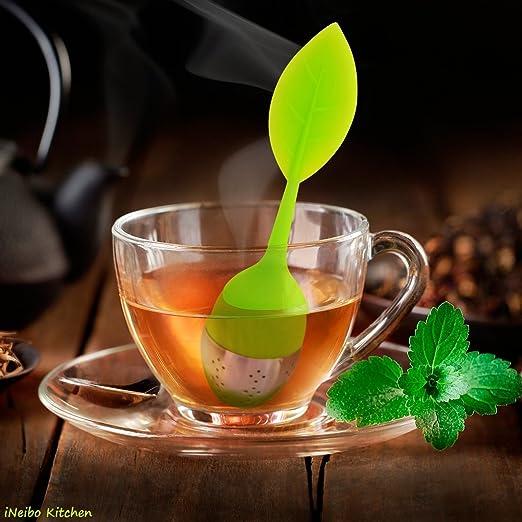 43 opinioni per iNeibo Kitchen infusore per tè e tisane/colino/filtro per te in silicone con