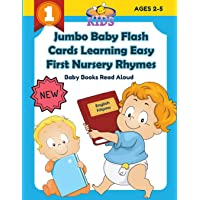 Jumbo Baby Flash Cards Learning Easy First Nursery Rhymes Baby Books Read Aloud English Filipino: 100+ colorful picture…