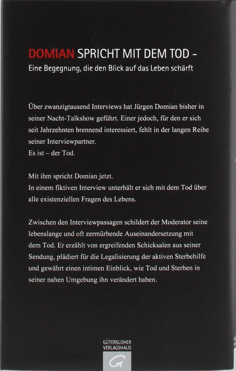 interview mit dem tod amazonde jrgen domian bcher - Jurgen Domian Lebenslauf