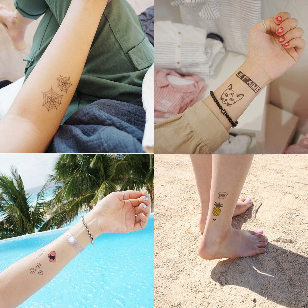 Foxjoy Temporary Tattoos, 200 Designs, 10 Sheets, 6x4 inches (Rapper) by Foxjoy (Image #5)