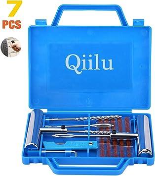 Qiilu Reifendiagnose Reparatur Set Tubeless Rad Reifen Punktion Ausbessern Werkzeug Set Auto