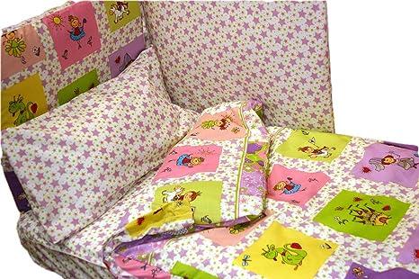 Relleno Montse Interiors Saco N/órdico Cuna Princesas Little Princess, para Cama de Super Cuna de 80x130