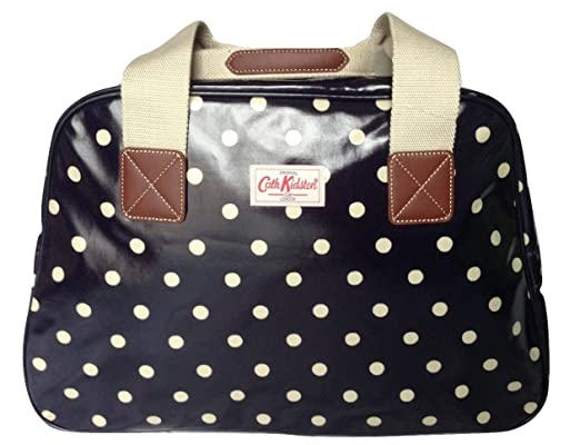 Cath Kidston travel weekend overnight bag oilcloth spot navy  Amazon.co.uk   Clothing 834d8a62c28ae