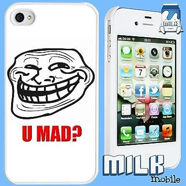 714s1sctkGL._SX385_ brand new iphone 4 and 4s meme phone case cover ~ troll face 'u mad