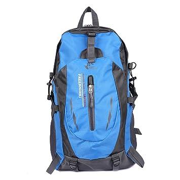 Mochila de senderismo resistente al agua Free Knight 35L., mujer hombre Infantil, azul: Amazon.es: Deportes y aire libre