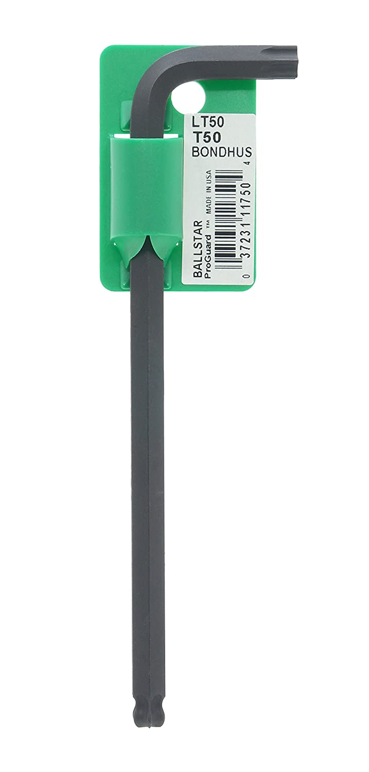 Bondhus 11750 Tagged and Barcoded T50 BallStar Tip Star Key L Wrench with ProGuard Finish 6.2