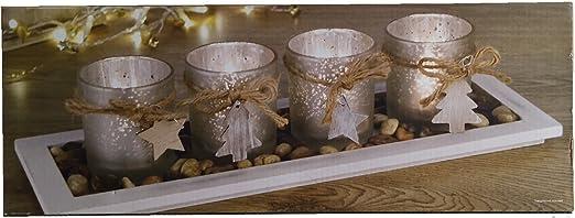 Alpine Home de Navidad vela portavelas centro de mesa decoración ...