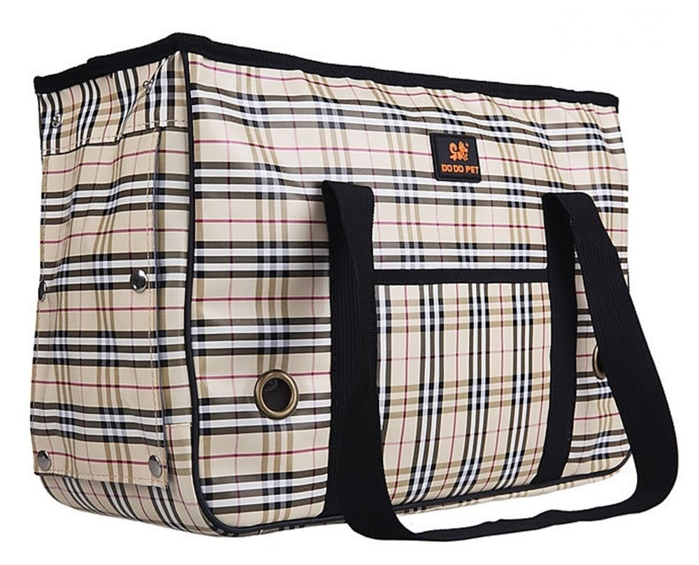 [Nossa Select] small dogs lightweight carry bag   100% satisfaction guarantee with a tote-type pet  Pets Dominant visible face from the ventilation is also easy to walk shaking little peace of mind (plaid S)