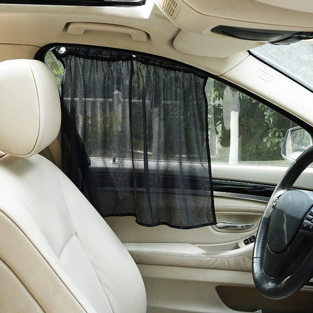 Lsgepavilion 2 x Universal-Auto-Seitenfenster-Vorhang UV-Schutz Saugnapf Visier Sonnenschutz Netz-Vorhang