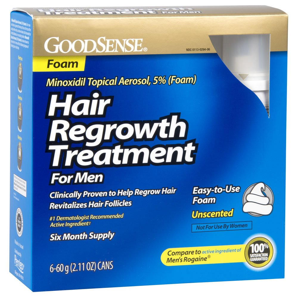 GoodSense Minoxidil Topical Aerosol, 5% (Foam) Hair Regrowth Treatment for Men, 12.66 Ounces