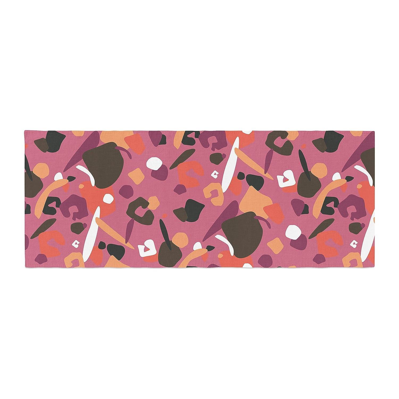 Kess InHouse Luvprintz Abstract Leopard Brown Pink Bed Runner