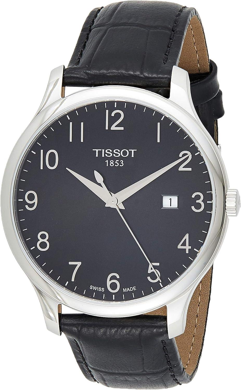 Tissot T0636101605200 - Reloj analógico de caballero de cuarzo con correa de piel negra