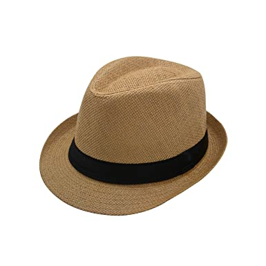 d3398318 JEDAGX Panama Style Summer Beach Sun Jazz Cap Unisex Adult Sun Hat Solid  Color Elegant Straw Jazz Cap Soft and Breathable 58CM: Amazon.co.uk:  Clothing