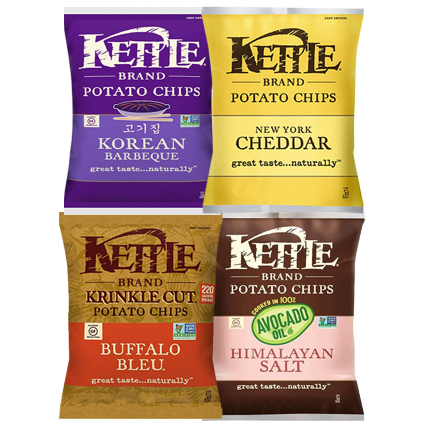 Kettle Brand Potato Chips, Individual Single Serve Bags, Many Different Flavors Sampler Variety Pack (12 Count) by Custom Varietea (Image #2)