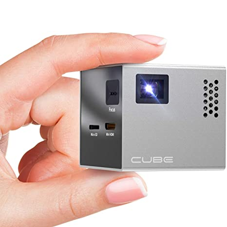 RIF6 Cube Full LED Mini Projector - 1080p Supported Portable Projector with  Built-in Speakers, HDMI Input for Smartphone, Laptop, and Home Theater -