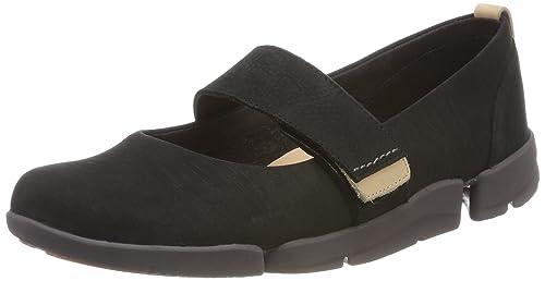 Clarks Tri Caitlin, Zapatillas para Mujer, Negro (Black Combi), 38 EU