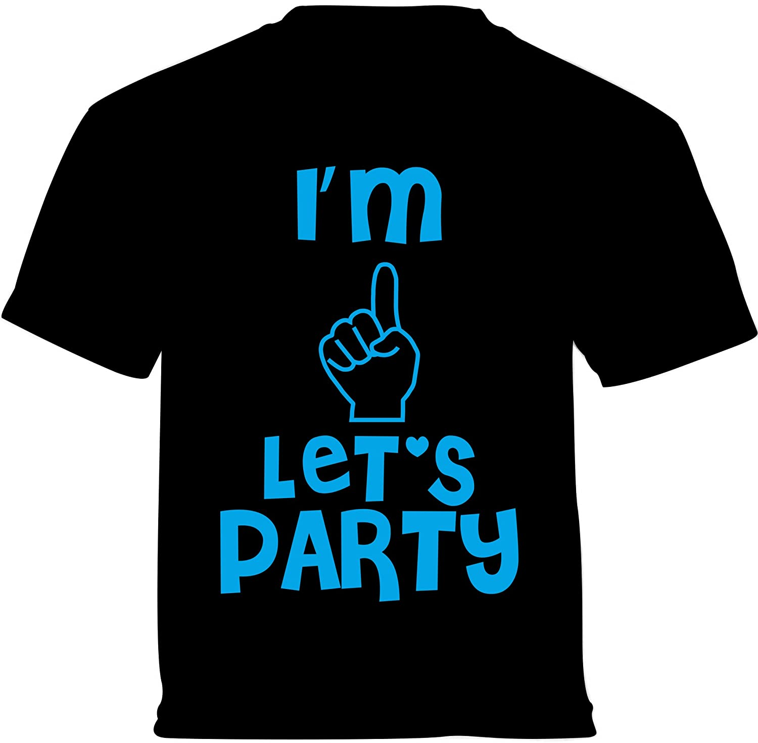 Vizor Im One Lets Party Toddler Shirts Baby Shirts Birthday of One Year Old