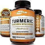 Turmeric Curcumin with Ginger & BioPerine Black Pepper Supplement :: Anti-Inflammatory, Antioxidant, Anti Aging :: 100…
