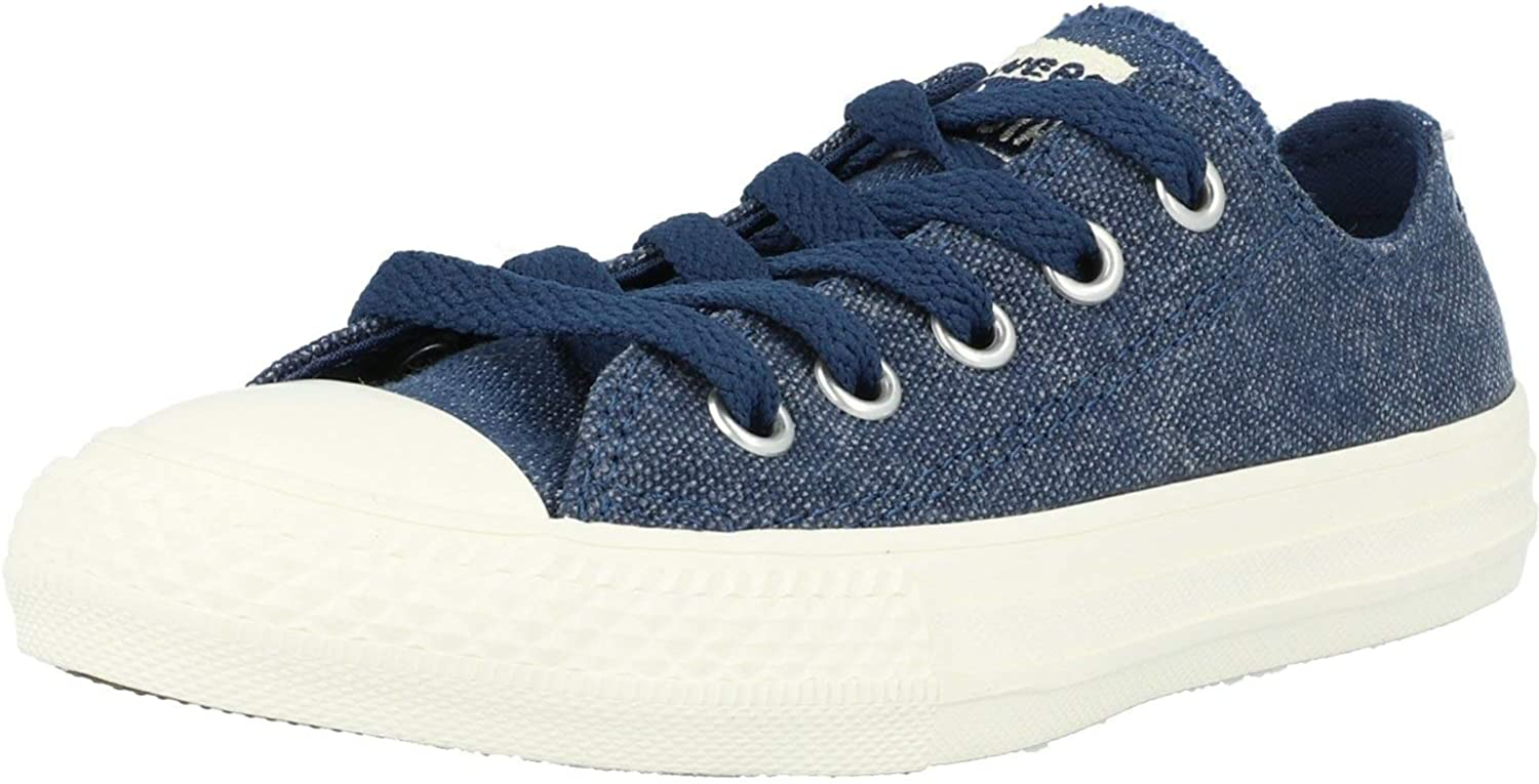 Ox Navy Canvas Child Trainers Shoes