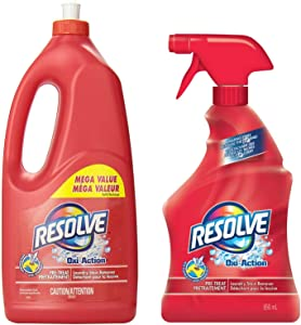 Resolve Oxi Action Pre-Treat Laundry Stain Remover Trigger Spray (22 Fl Oz) & Refill (61 Fl Oz) Mega Value Pack (Total 83 Fl Oz)
