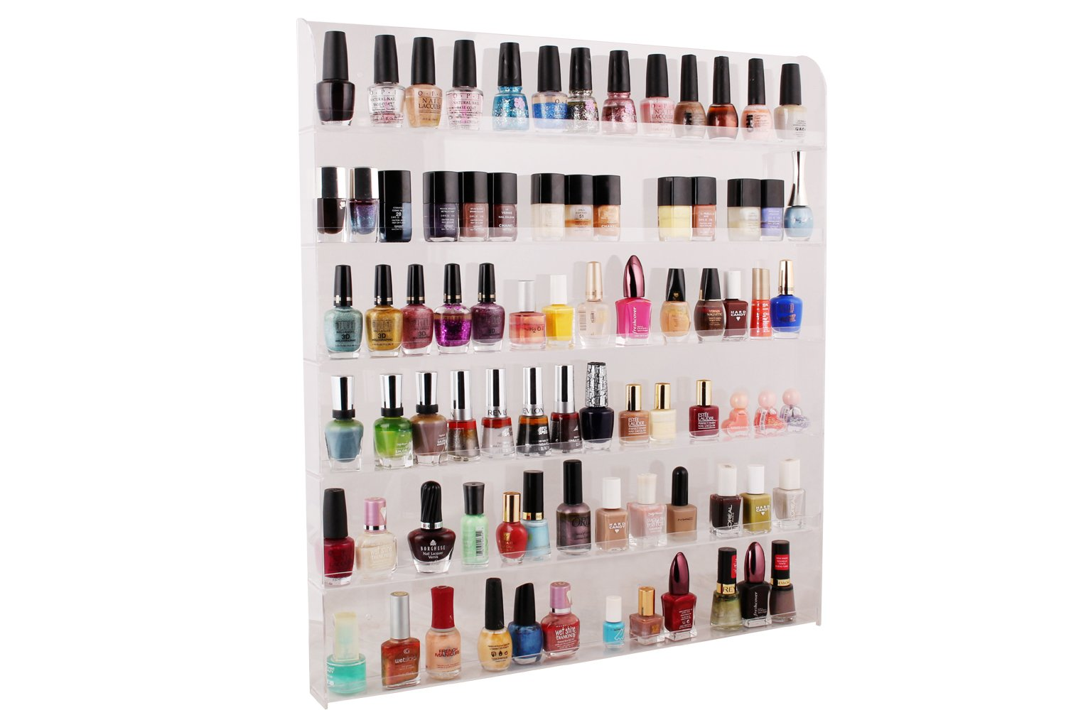 Amazon Com Tms Large Acrylic Clear Nail Polish Organizer Display