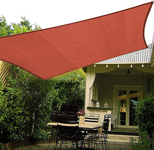 Shade&Beyond - Toldo rectangular para patio, jardín, pérgola: Amazon.es: Jardín
