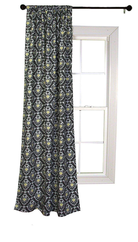 Trend Lab Waverly Rise and Shine Window Drape, Black/White by Trend Lab [並行輸入品]   B01BM2723M