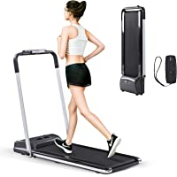 Estleys 2 in 1 Folding Under Desk Treadmill, Smart Walking Jogging Machine, Dual LCD Display& Remote Controller, Compact…