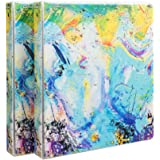 "Comix Heavy Duty Premium Designer 3 Round Ring Fashion Binder, 1"", Letter Size, 2 Pack, A2134Z (Painting)"